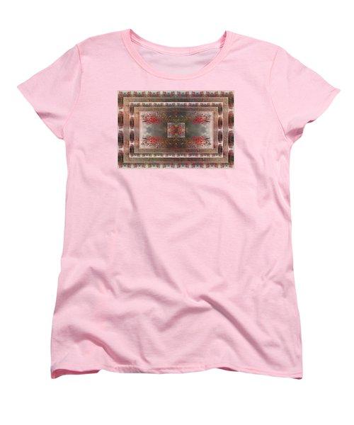 Cardinal Flower Design Women's T-Shirt (Standard Cut) by Joy Nichols