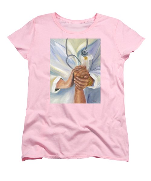 Women's T-Shirt (Standard Cut) featuring the painting Caring A Tradition Of Nursing by Marlyn Boyd