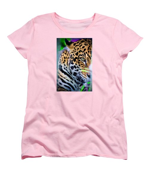 Women's T-Shirt (Standard Cut) featuring the painting Cat Eye by Judy Kay