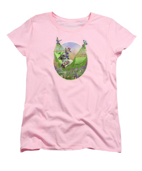 Cat In Calla Lily Hat Women's T-Shirt (Standard Cut) by Carol Cavalaris