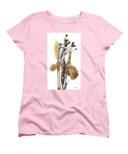 Cattails And November Flowers II Women's T-Shirt (Standard Cut) by Lise Winne