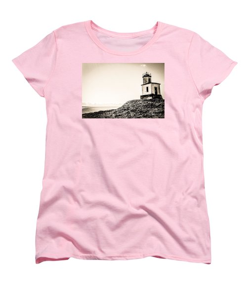 Women's T-Shirt (Standard Cut) featuring the photograph Cattle Point Lighthouse by William Wyckoff