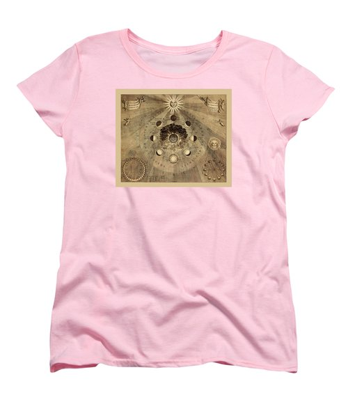 Celestial Map 1710b Women's T-Shirt (Standard Cut) by Andrew Fare