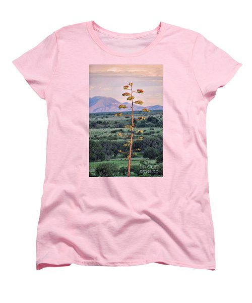 Women's T-Shirt (Standard Cut) featuring the photograph Centuryplant by Gina Savage
