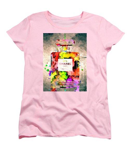 Chanel No 5 Grunge Women's T-Shirt (Standard Cut) by Daniel Janda