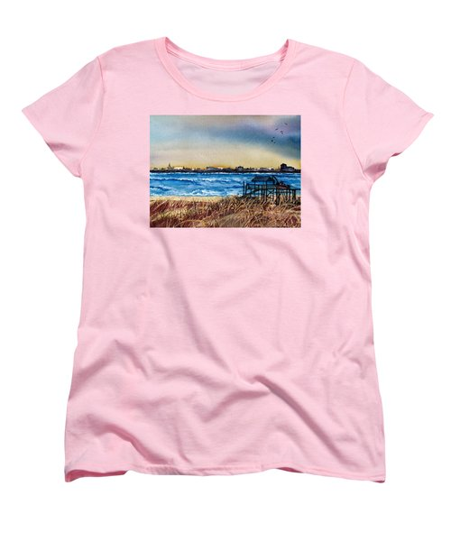 Charleston At Sunset Women's T-Shirt (Standard Cut) by Lil Taylor