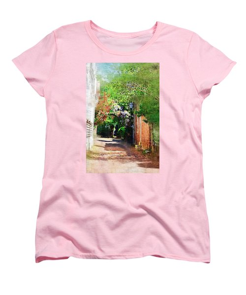 Women's T-Shirt (Standard Cut) featuring the photograph Charlestons Alley by Donna Bentley