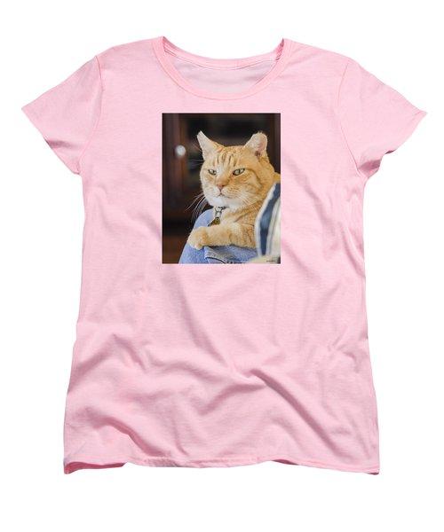 Charlie Cat Women's T-Shirt (Standard Cut) by Allen Sheffield