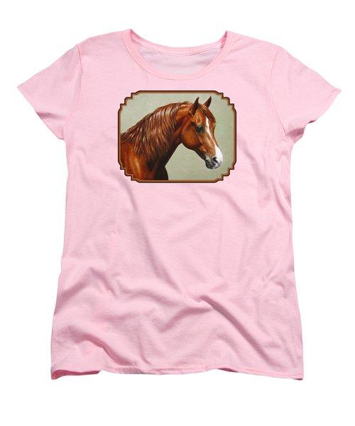 Chestnut Morgan Horse Phone Case Women's T-Shirt (Standard Fit)