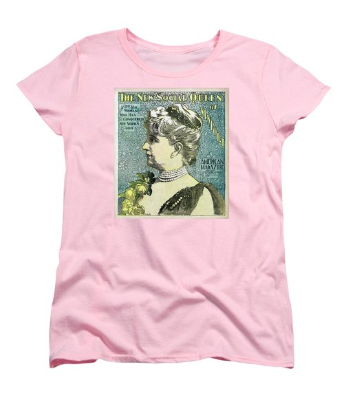 Women's T-Shirt (Standard Cut) featuring the photograph Chicago Woman Conquers New York's 400  1898 by Daniel Hagerman