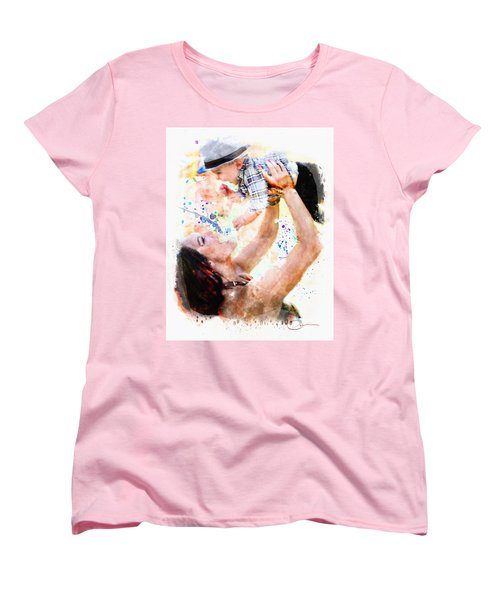 Child In Hand Women's T-Shirt (Standard Cut) by Robert Smith