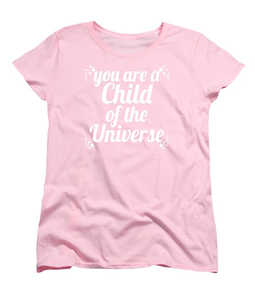 Child Of The Universe Desiderata - Pink Women's T-Shirt (Standard Cut) by Ginny Gaura