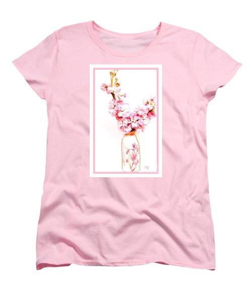 Women's T-Shirt (Standard Cut) featuring the digital art Chinese Bouquet by Marsha Heiken
