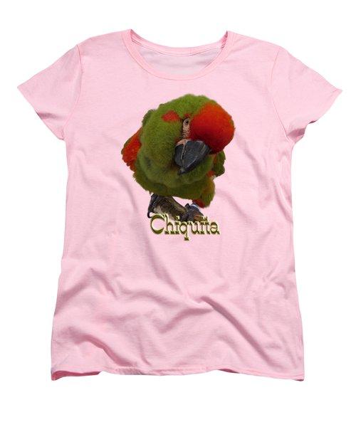 Chiquita, A Red-front Macaw Women's T-Shirt (Standard Cut)