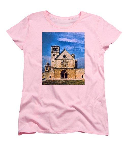 Women's T-Shirt (Standard Cut) featuring the photograph Church Of Assisi by Trey Foerster