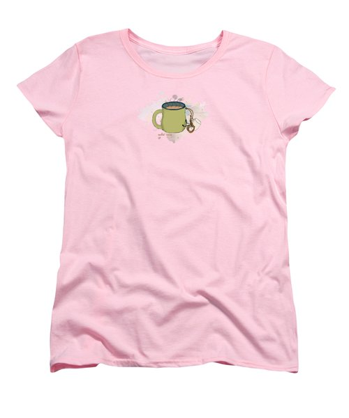 Climbing Mt Cocoa Illustrated Women's T-Shirt (Standard Cut) by Heather Applegate