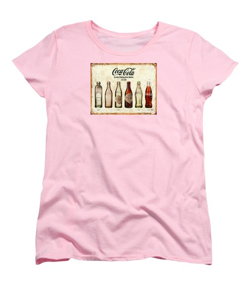 Coca-cola Bottle Evolution Vintage Sign Women's T-Shirt (Standard Cut) by Tony Rubino
