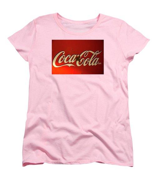 Coca-cola Sign  Women's T-Shirt (Standard Cut) by Toni Hopper