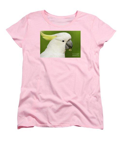 Cockatoo Close Up Women's T-Shirt (Standard Cut) by Craig Dingle