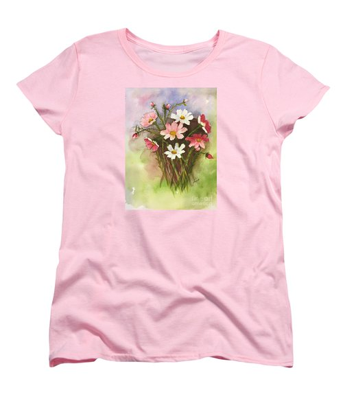 Colorful Cosmos Women's T-Shirt (Standard Cut) by Lucia Grilletto
