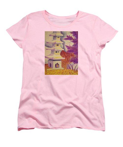 Colorful Garden Women's T-Shirt (Standard Cut) by Jean Haynes