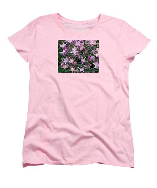 Women's T-Shirt (Standard Cut) featuring the photograph Columbine Splendor by Lynda Lehmann