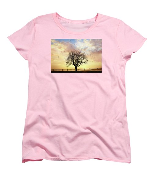 Women's T-Shirt (Standard Cut) featuring the photograph Come Fly Away by Lori Deiter