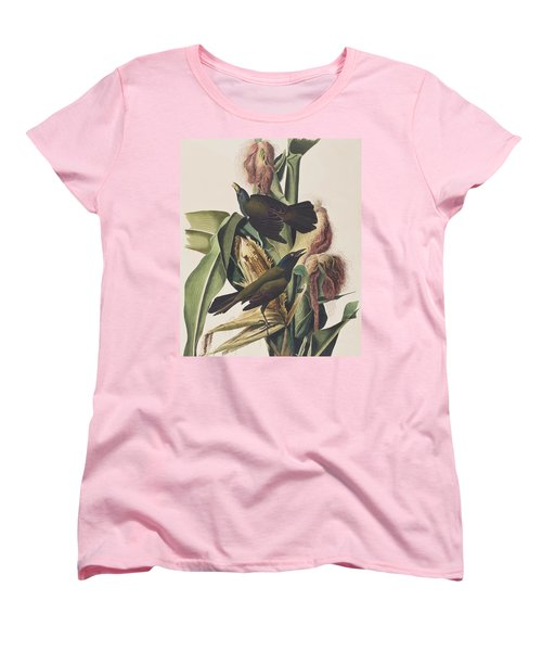 Common Crow Women's T-Shirt (Standard Cut) by John James Audubon
