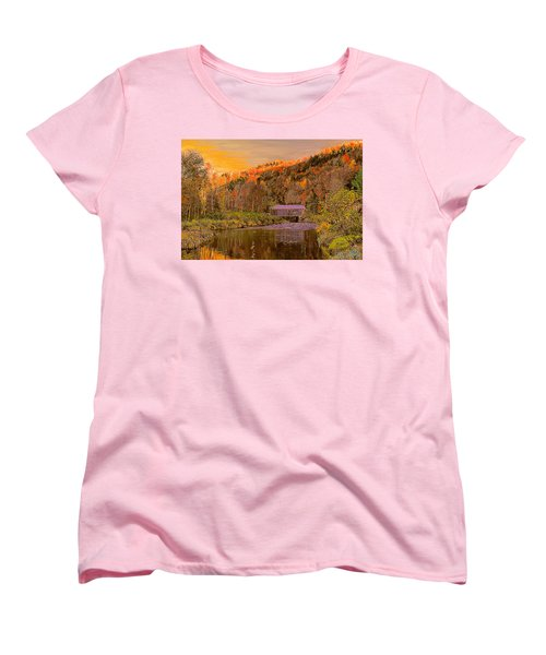 Comstock Bridge Women's T-Shirt (Standard Cut) by John Selmer Sr