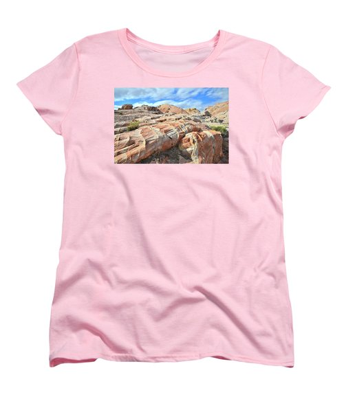 Concentric Color In Valley Of Fire Women's T-Shirt (Standard Cut) by Ray Mathis