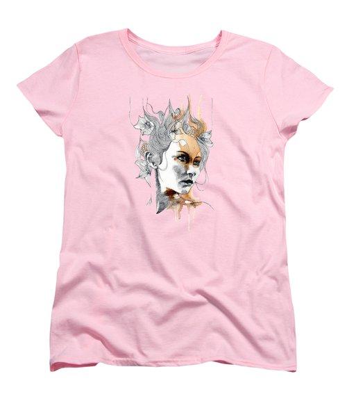 Concerned T-shirt Women's T-Shirt (Standard Cut) by Herb Strobino
