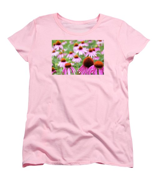 Women's T-Shirt (Standard Cut) featuring the photograph Coneflowers by David Chandler