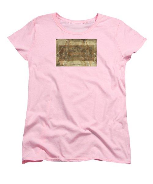 Women's T-Shirt (Standard Cut) featuring the digital art Confederate $1 North Carolina Note by Melissa Messick
