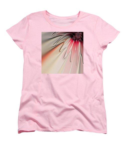 Women's T-Shirt (Standard Cut) featuring the digital art Contemporary Flower by Bonnie Bruno