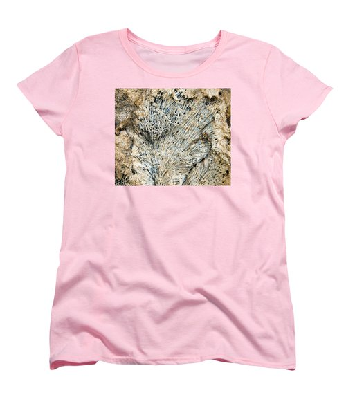 Women's T-Shirt (Standard Cut) featuring the photograph Coral Fossil by Jean Noren