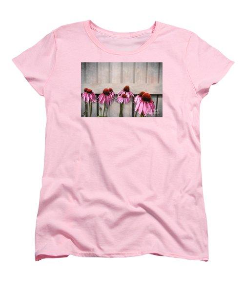 Coneflower Couples Women's T-Shirt (Standard Cut) by Nina Silver