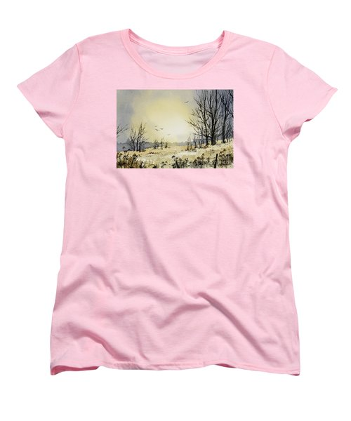 Women's T-Shirt (Standard Cut) featuring the painting Country Dawn by James Williamson