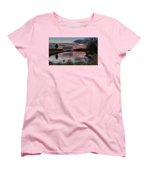 Women's T-Shirt (Standard Cut) featuring the photograph Country Living Sunset by Lara Ellis