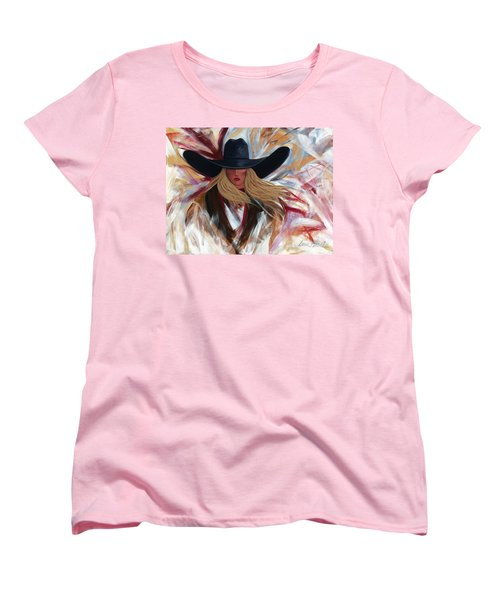Cowgirl Colors Women's T-Shirt (Standard Cut) by Lance Headlee