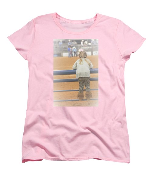 Women's T-Shirt (Standard Cut) featuring the photograph Cowgirl Hatchling by John Glass