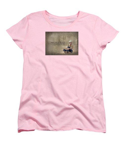 Cowgirls Rule Women's T-Shirt (Standard Cut) by Trudy Wilkerson
