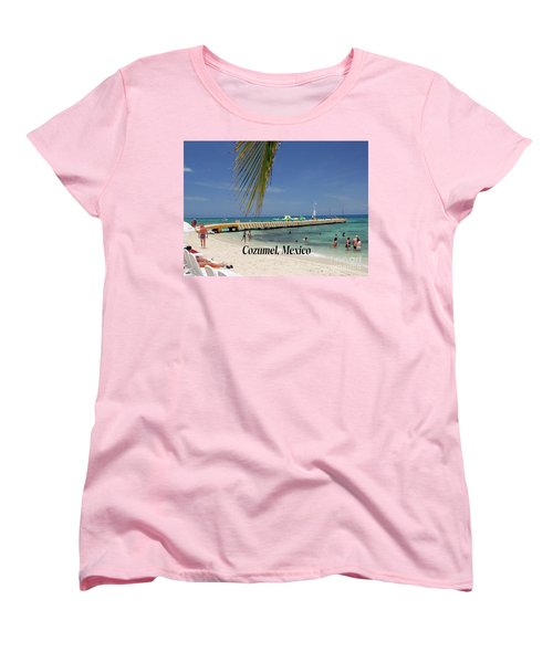 Women's T-Shirt (Standard Cut) featuring the photograph Cozumel Mexico by Gary Wonning