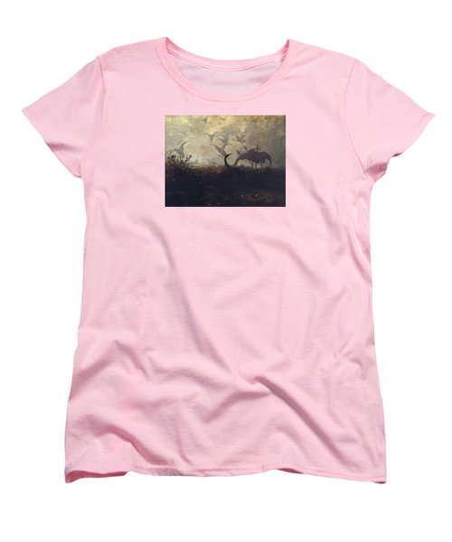 Cranes Take Off Women's T-Shirt (Standard Cut)