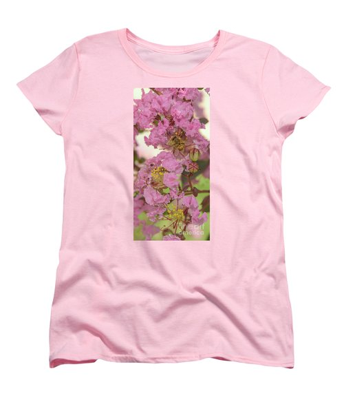 Crepe Myrtle And Bee Women's T-Shirt (Standard Cut) by Olga Hamilton