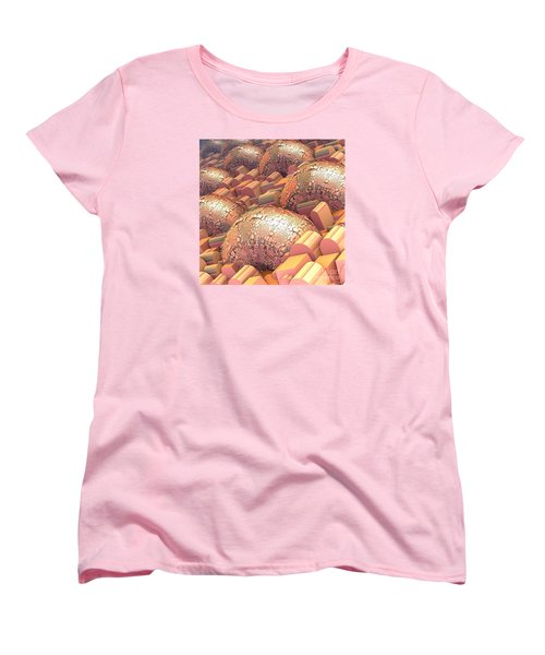 Women's T-Shirt (Standard Cut) featuring the digital art Crowded by Michelle H