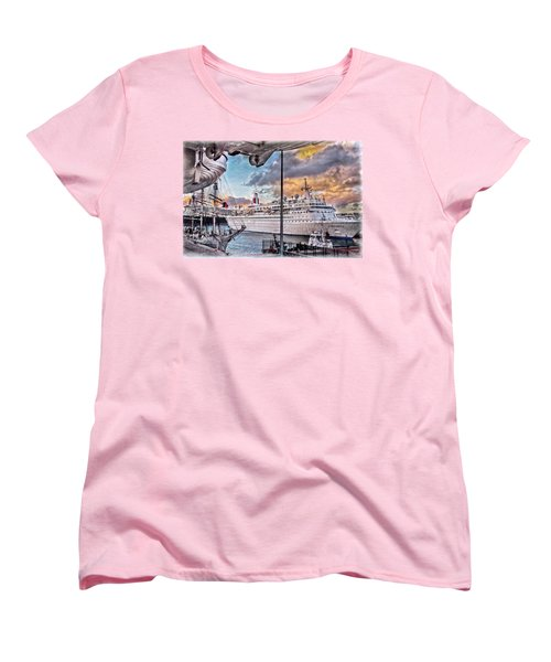 Cruise Port - Light Women's T-Shirt (Standard Cut) by Hanny Heim