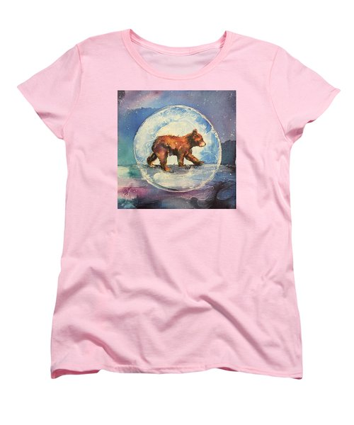 Women's T-Shirt (Standard Cut) featuring the painting Cubbie Bear by Christy Freeman
