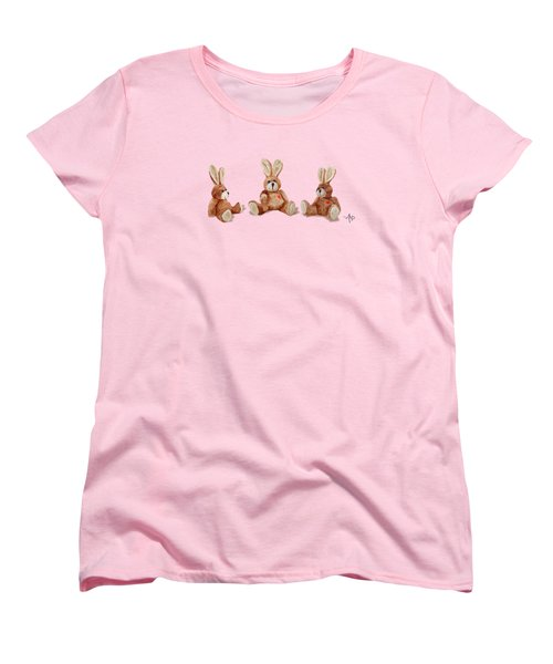 Cuddly Care Rabbit II Women's T-Shirt (Standard Cut) by Angeles M Pomata