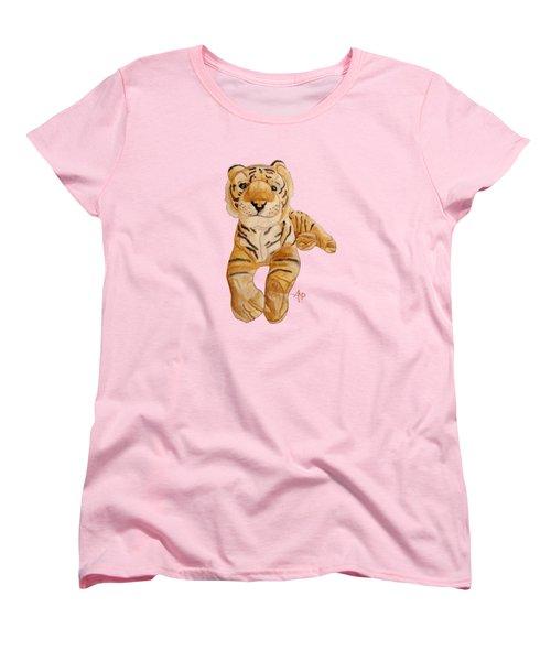 Cuddly Tiger Women's T-Shirt (Standard Cut) by Angeles M Pomata