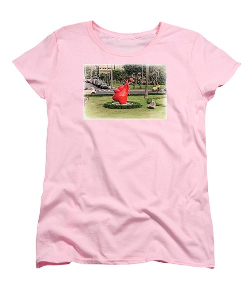 Women's T-Shirt (Standard Cut) featuring the photograph Cupid's Heart  by Mary Machare